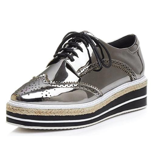 Platform Wingtips Oxfords Shoe