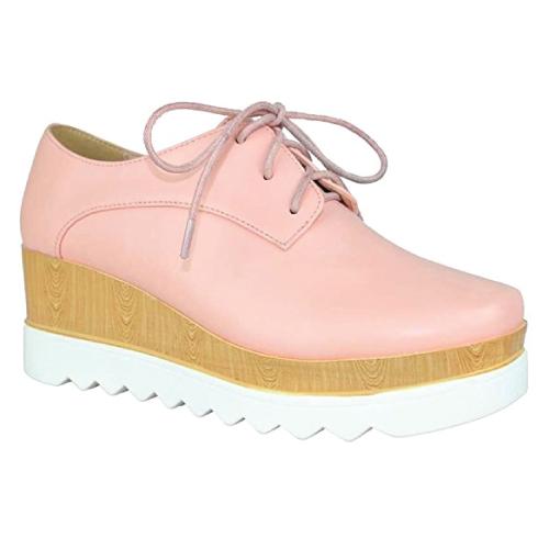 Chase & Chloe Wedge Oxford Shoe