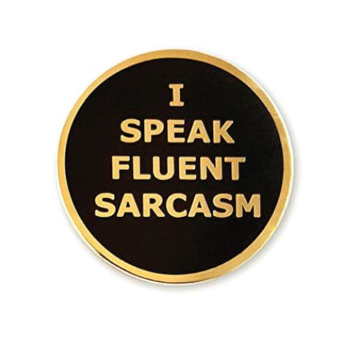 Pinsanity Sarcasm Lapel Pin