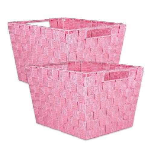 woven nylon storage bin