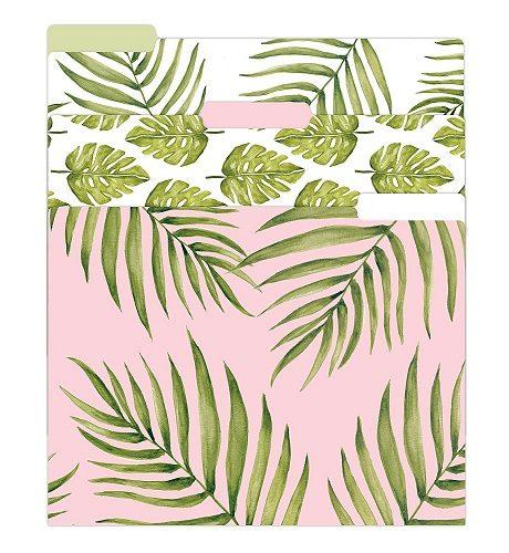 palm leaves file folders