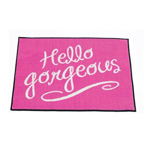 hello gorgeous door mat