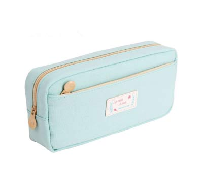 baby blue pencil pouch - minimalist school supplies