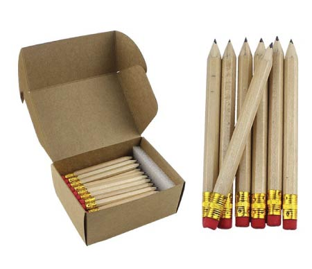 minimalist wooden pencils - simple back to school supplies