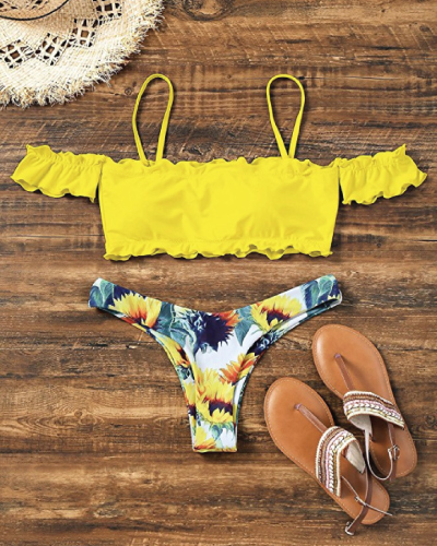 Sunflower Off Shoulder Bikini