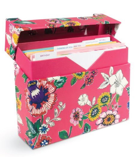 15 Cute Vera Bradley School Supplies - card set