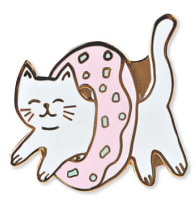 Dessert Donut Cat Lapel Pin