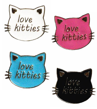 Love Kitties cat lapel pin