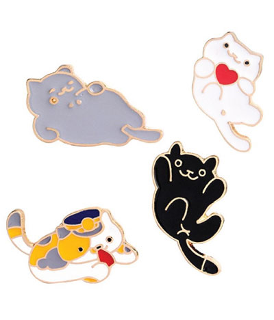 neko atsume lookalike cat lapel pins