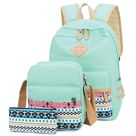 School bag set - mint green back to school supplies
