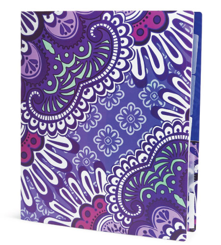 15 Cute Vera Bradley School Supplies - three ring binder with purple floral cover