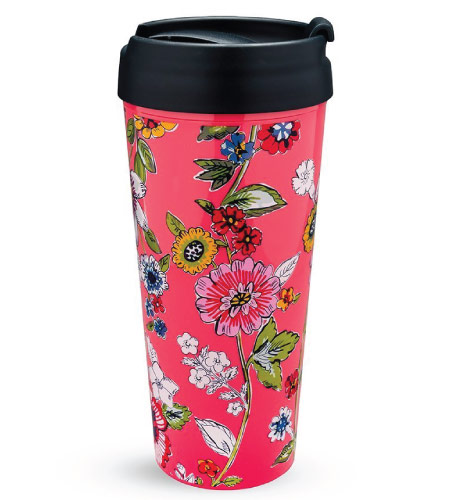 15 Cute Vera Bradley School Supplies - floral tumbler