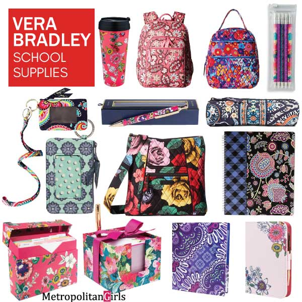 vera bradley school supplies for teen girls - home office stationery