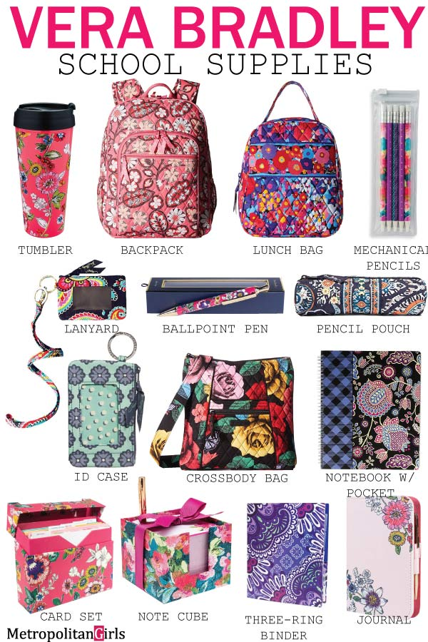 vera bradley school supplies office supplies