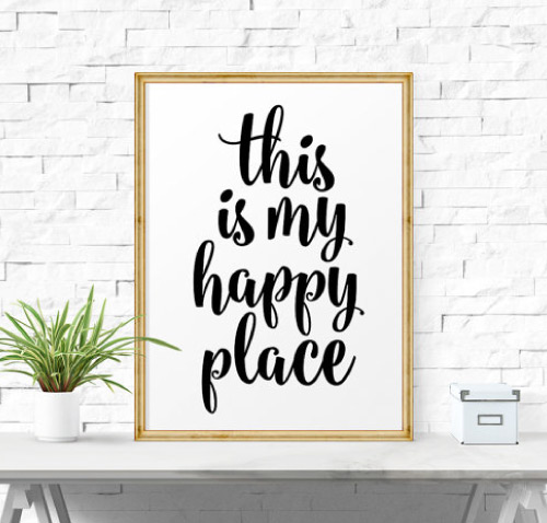 this is my happy place - inspirational poster printable