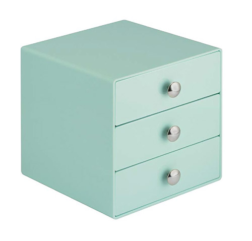 mint green desktop drawers