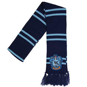 Alternate Color Scheme Dark Blue and Light Blue Ravenclaw Symbol Scarf for Adults