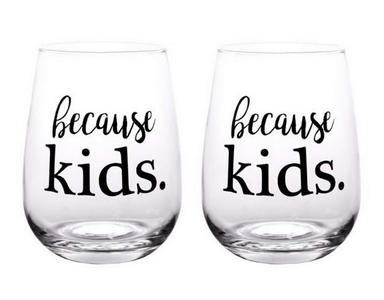 because kids. #wine #winelover #wineglasses