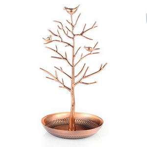 cute-ring-holder - rose gold bird tree