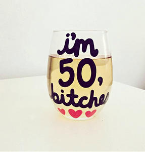 i'm 50 bitches #wine #winelover #wineglasses