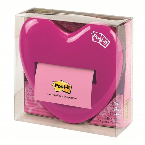 Post-it Pop-up Hot Pink Notes Dispenser For Home and Office