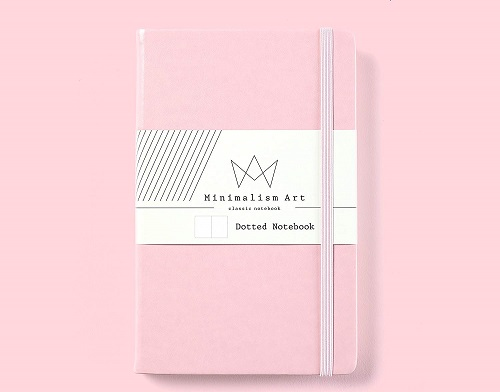 Pink Stationery. Minimalism Art Classic Notebook