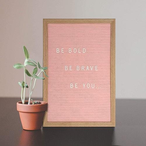 Pink Felt Letter Board Set For Pink Office