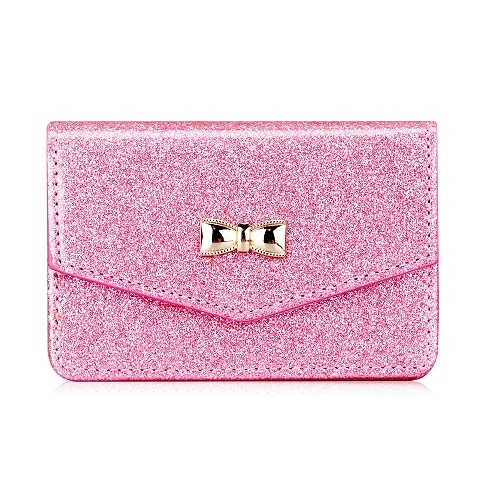Pink Bow Business Card Holder