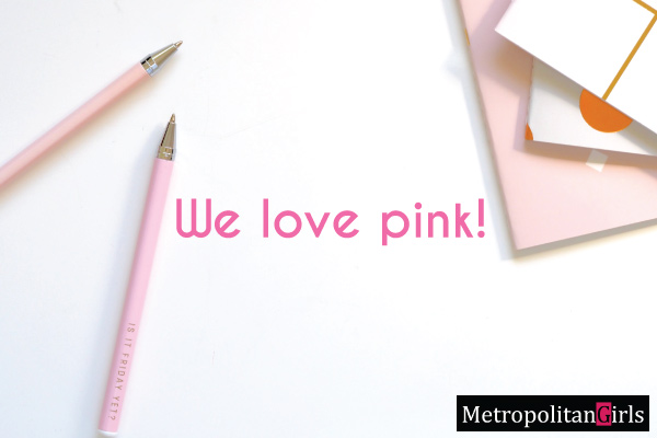 Pink Color Office Supplies