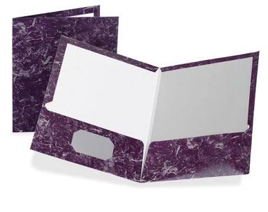 purple marble folder