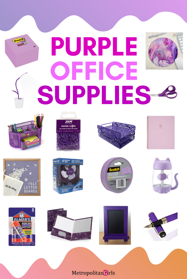 20 Purple Office Supplies You Ll Love