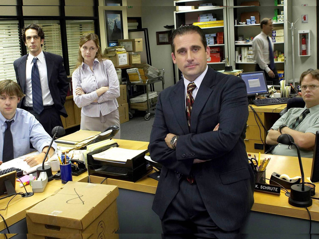 the office: michael and his staff