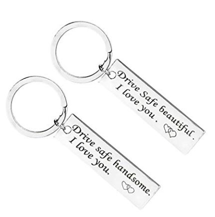 Matching Drive Safe Couple Keychains