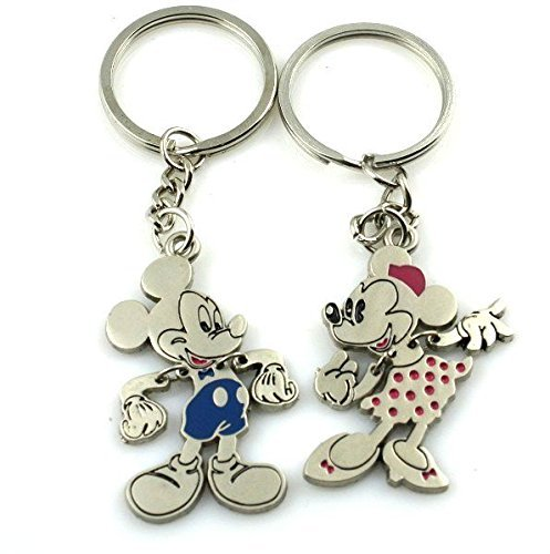 Mickey Mouse Minnie Mouse Couples Keychains