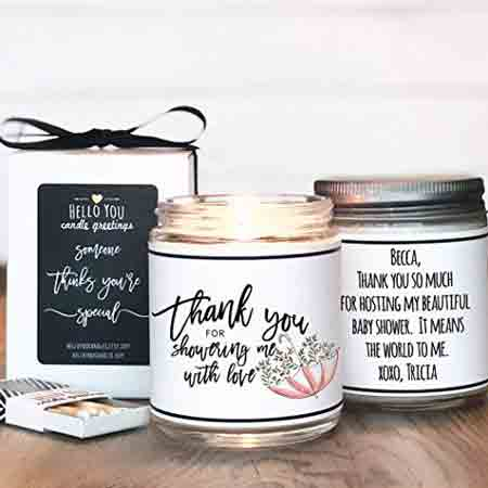 Thank You For Showering Me With Love Candle | baby-shower-hostess-gift-ideas