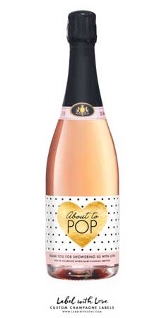 Custom Champagne Labels | baby-shower-hostess-gift-ideas