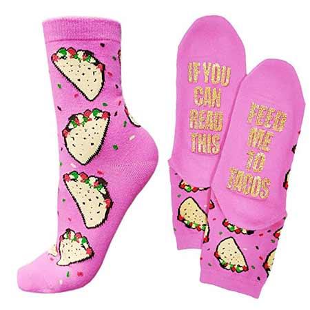 Tacos Wine Beer Socks | baby-shower-hostess-gift-ideas
