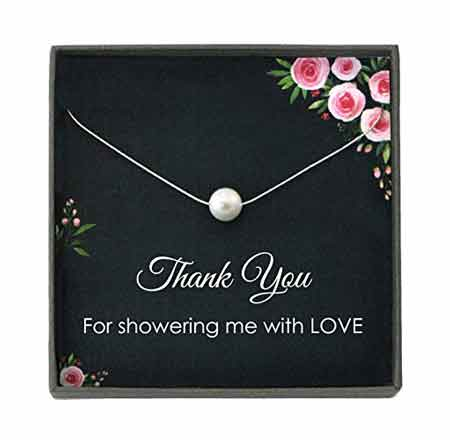 Floating Pearl Necklace | baby-shower-hostess-gift-ideas