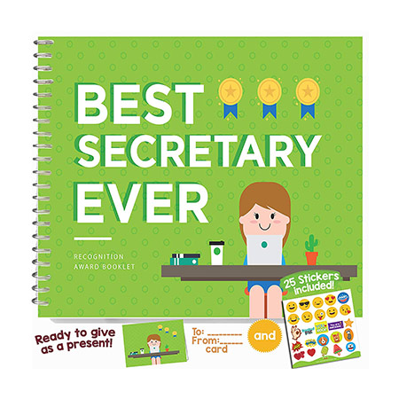 Employee Appreciation Gifts: Best Secretary Ever Booklet
