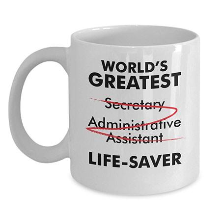 Employee Appreciation Gifts: Funny Secretary Mug