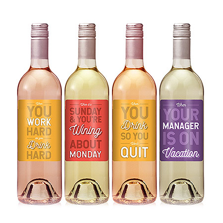 Employee Appreciation Gifts: Funny Wine Labels For Coworkers