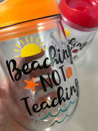 Beaching Not Teaching Tumbler | End-of-Year-Ideas-Gifts-For-Teachers