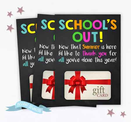 Gift Card Holder Printable | End-of-Year-Ideas-Gifts-For-Teachers