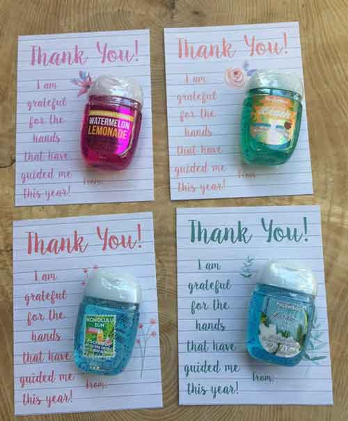 Thank You Note Hand Sanitizer | End-of-Year-Ideas-Gifts-For-Teachers
