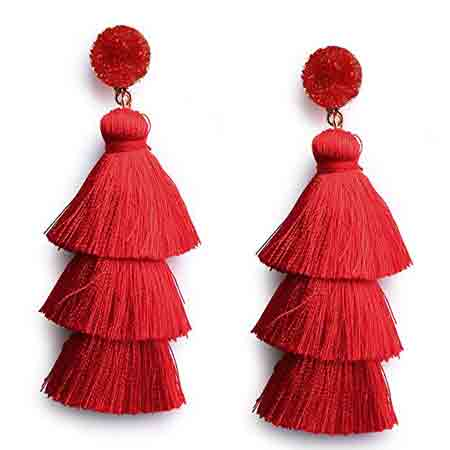 Red Statement Earrings | Gifts for Aries