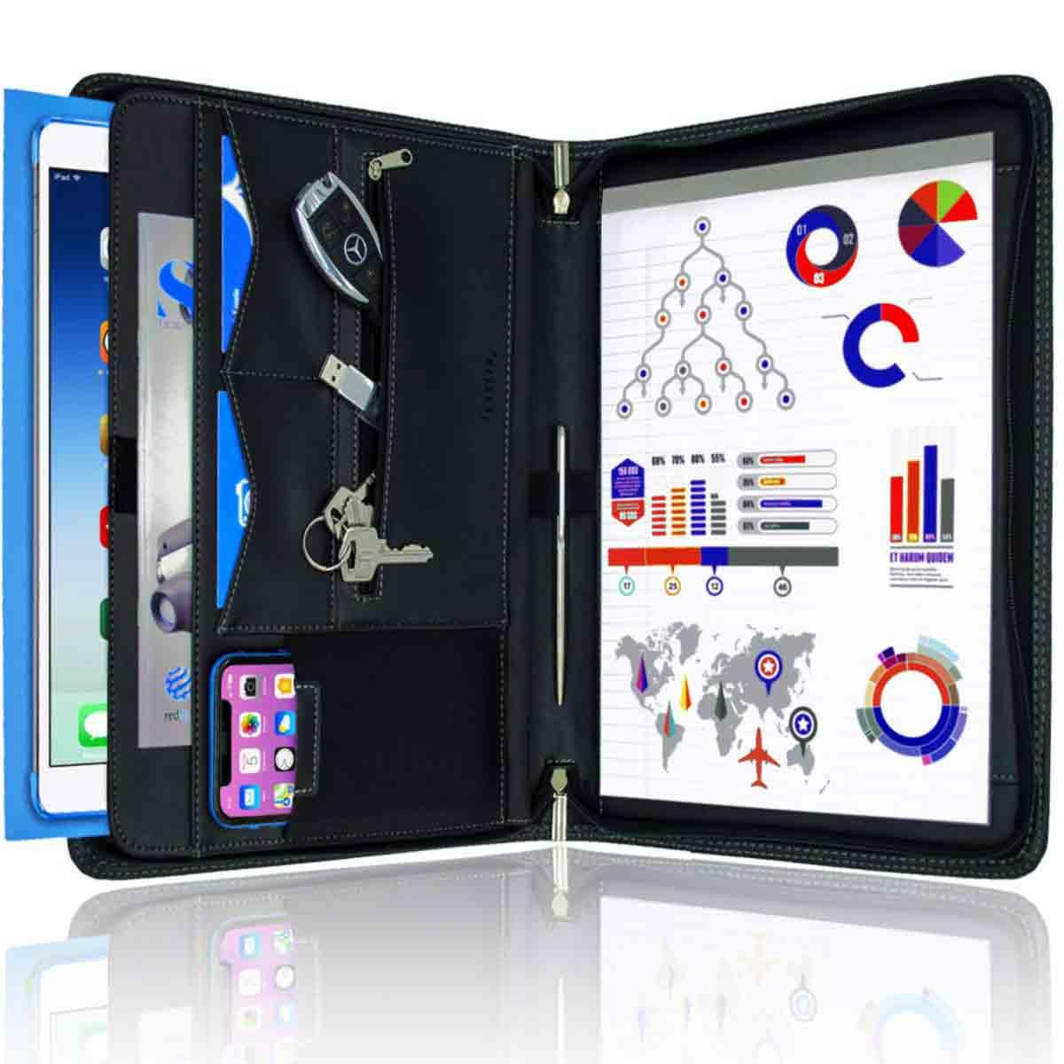 gifts-for-capricorn-zipper-portfolio-organizer