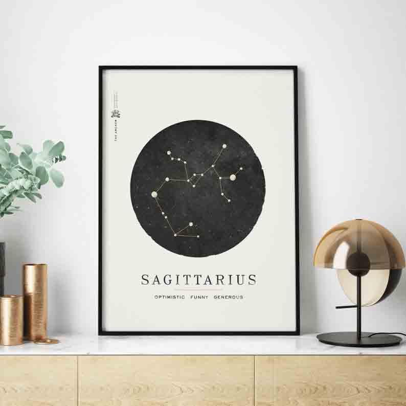 gifts-for-sagittarius-sagittarius-wall-art-print
