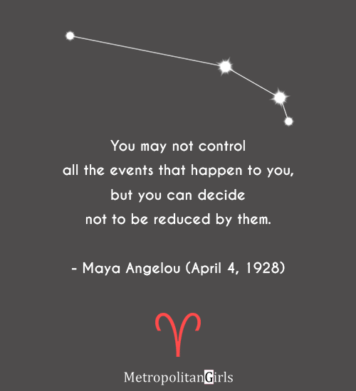 Quote by famous Aries Maya Angelou